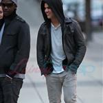 Taylor Lautner and Edi Cathegi have dinner in Vancouver 36142