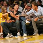 David Beckham, Zac Efron and Jeremy Piven at the Lakers game 5 vs Suns playoffs 2010 62132