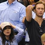 Ellen Page and Alexander Skarsgard attend game four of the 2012 Stanley Cup Final between the Los Angeles Kings and the New Jersey Devils at Staples Center 116749