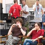 Jesse Eisenberg and Ellen Page on set of The Bop Decameron in Italy 90812