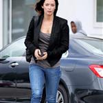 Emily Blunt leaves hair salon 59341