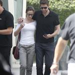 Emily Blunt and John Krasinski leave the movies in Los Angeles 120272