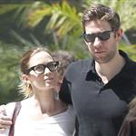 Emily Blunt and John Krasinski leave the movies in Los Angeles 120283