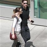 Emily Blunt and John Krasinski leave the movies in Los Angeles 120290