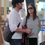 Emily Blunt John Krasinski depart YVR after spending the weekend in Vancouver 91813