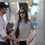 Emily Blunt John Krasinski depart YVR after spending the weekend in Vancouver 91815