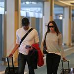 Emily Blunt John Krasinski depart YVR after spending the weekend in Vancouver 91823