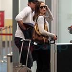 Emily Blunt John Krasinski depart YVR after spending the weekend in Vancouver 91827