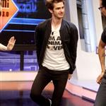 Emma Stone and Andrew Garfield appear on El Hormiguero TV show in Madrid 119910