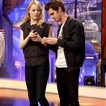 Emma Stone and Andrew Garfield appear on El Hormiguero TV show in Madrid 119917