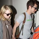Emma Stone and Andrew Garfield at LAX 116830