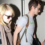 Emma Stone and Andrew Garfield at LAX 116831