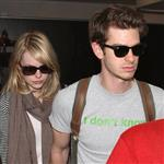 Emma Stone and Andrew Garfield at LAX 116834