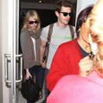 Emma Stone and Andrew Garfield at LAX 116835