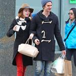 Emma Stone and Andrew Garfield shopping together in Chelsea and the West Village area of New York  101957