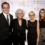 Emma Stone with Will Arnett, Amy Poehler and CEO of WWO Dr. Jane Aronson at the Worldwide Orphans Foundation Seventh Annual Benefit Gala 98385