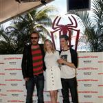Emma Stone, Andrew Garfield, and Rhys Ifans attend The Amazing Spiderman photo call at Summer of Sony 4 Spring Edition held at the Ritz Carlton Hotel in Cancun, Mexico 111506