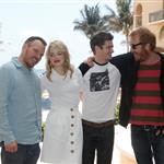 Marc Webb, Rhys Ifans, Emma Stone and actor Andrew Garfield attend The Amazing Spiderman photo call at Summer of Sony 4 Spring Edition held at the Ritz Carlton Hotel in Cancun, Mexico 111509
