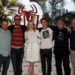 Matt Tolmach, Marc Webb, Emma Stone, Andrew Garfield, Rhys Ifans and Avi Arad attend The Amazing Spiderman photo call at Summer of Sony 4 Spring Edition held at the Ritz Carlton Hotel in Cancun, Mexico 111511