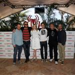 Matt Tolmach, Marc Webb, Emma Stone, Andrew Garfield, Rhys Ifans and Avi Arad attend The Amazing Spiderman photo call at Summer of Sony 4 Spring Edition held at the Ritz Carlton Hotel in Cancun, Mexico 111512