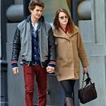 Emma Stone and Andrew Garfield hold hands in New York  98787
