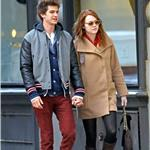 Emma Stone and Andrew Garfield hold hands in New York  98790