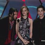 Ezra Miller, Emma Watson and Logan Lerman MTV's '2012 MTV Movie Awards'  116398