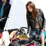 Emma Watson on the set of The Bling Ring in Los Angeles 111254