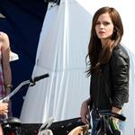 Emma Watson on the set of The Bling Ring in Los Angeles 111256