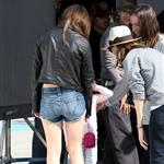 Emma Watson on the set of The Bling Ring in Los Angeles 111257