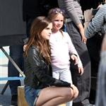 Emma Watson on the set of The Bling Ring in Los Angeles 111258