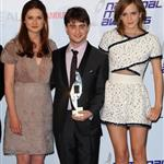 Emma Watson, Daniel Radcliffe and Bonnie  Wright at the National Movie Awards  62017