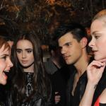 Emma Watson Lilly Collins Taylor Lautner Jaime King backstage at the MTV Movie Awards 2011  86734