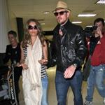 Dane and Gayheart arriving at LAX last month 45120