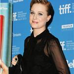 Evan Rachel Wood at TIFF press conference with bruised lip after losing tooth  93778