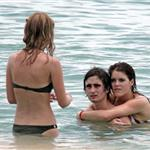 Princess Eugenie at the beach with friends earlier this month 37614