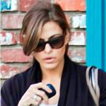 Eva Mendes leaves her office with Ryan Gosling's dog George  103660