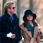 Ryan Gosling and Eva Mendes walk through Pere Lachaise Cemetery in Paris 99312