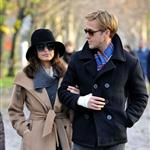 Ryan Gosling and Eva Mendes walk through Pere Lachaise Cemetery in Paris 99313
