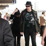 Evan Rachel Wood and Marilyn Manson  at LAX 59566