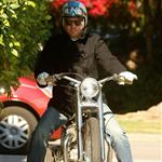 Ewan McGregor on his bike after breakfast in Beverly Hills 29381