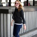 Dakota Fanning at LAX en route to Vancouver 38499