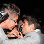 Colin Farrell confronts a photographer at the Triage carpet at TIFF 46800