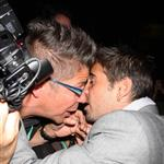 Colin Farrell confronts a photographer at the Triage carpet at TIFF 46801