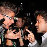 Colin Farrell confronts a photographer at the Triage carpet at TIFF 46805