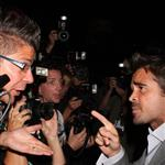 Colin Farrell confronts a photographer at the Triage carpet at TIFF 46806