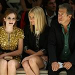 Gwyneth Paltrow with Emma Watson front row at Burberry 47469