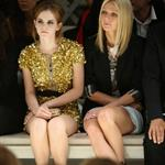 Gwyneth Paltrow with Emma Watson front row at Burberry 47471