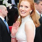 Jessica Chastain at the 2012 Golden Globe Awards 102812