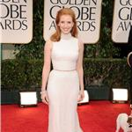 Jessica Chastain at the 2012 Golden Globe Awards 102815